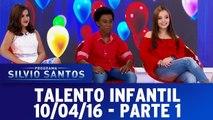 Talento Infantil com Lari Manoela, Maisa Silvia e Jean Paulo - Parte 1