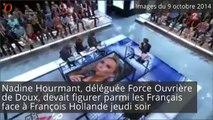 François Hollande a-t-il eu peur d'une syndicaliste de FO ?