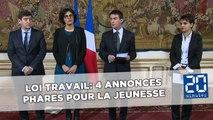Loi Travail: Les 4 annonces phares de Manuel Valls pour la jeunesse
