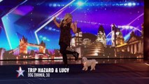 Dancing dog Trip Hazard has all the right moves  - Week 1 Auditions - Britain's Got Talent 2016