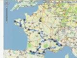 The Tour de France in Google Maps Street View
