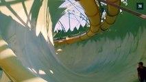 Un toboggan aquatique transformé en rampe de skate géante à Dubaï