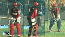 IPL 9 Virat Ab de Villiers and Chris Gayle Batting Practice Session