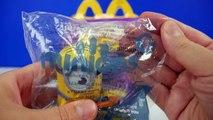 2015 Minions Movie McDonalds Happy Meal Toys Review Talking Minions Movie Toys Stuart #3 Video