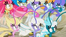 MLP: FiM - Mane 6 Transformed into Breezies (Full Scene) It Aint Easy Being Breezies [HD]