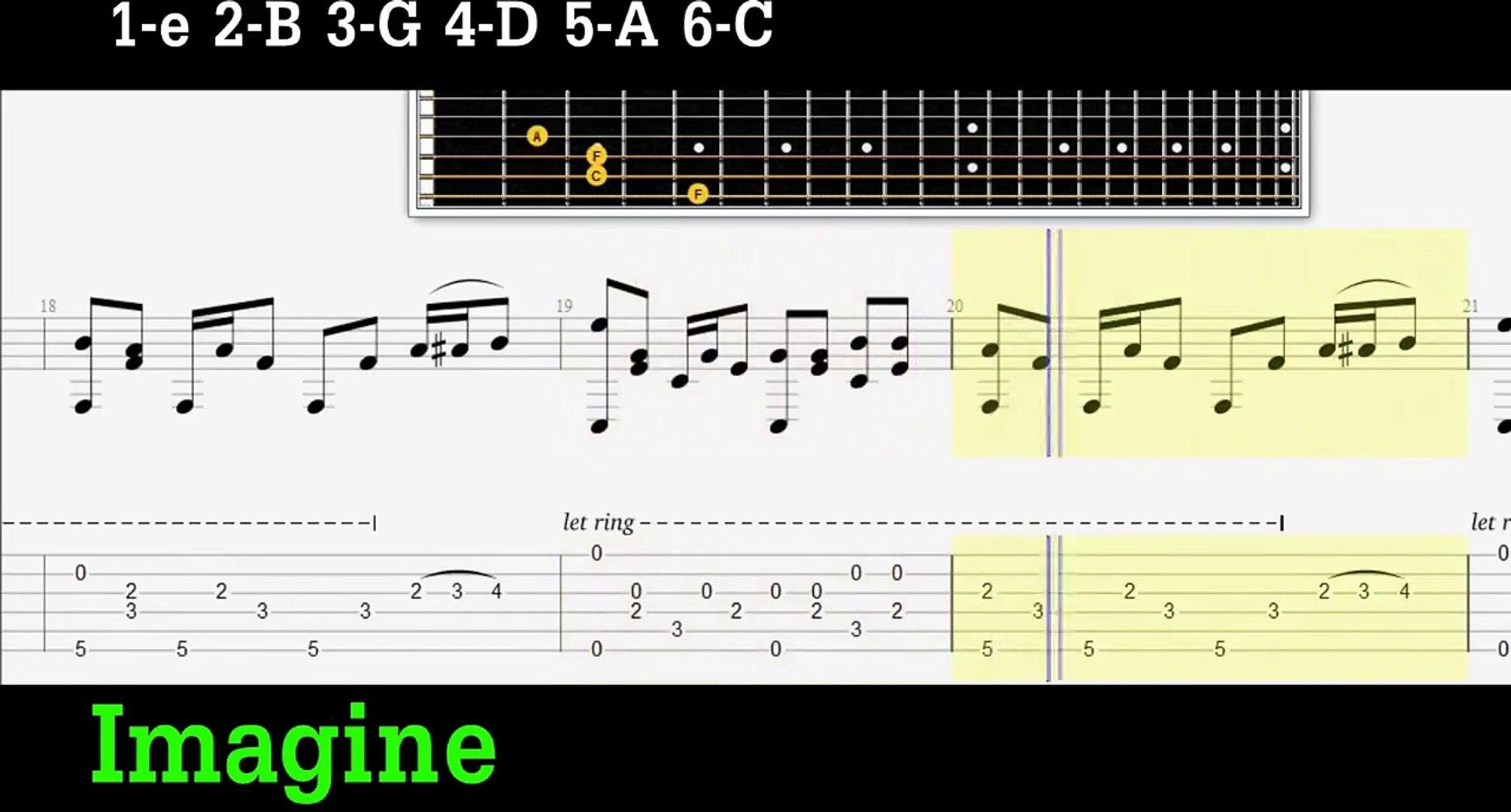 JOHN LENNON-IMAGINE-FINGERSTYLE GUITAR PRO TAB+PDF TAB