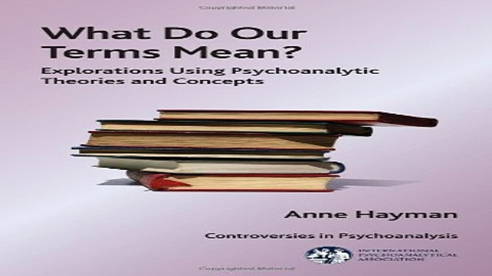 What do our terms mean? : explorations using psychoanalytic theories and concepts