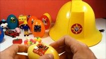 fireman sam toys and surprise eggs | Strażak Sam | firefighter story | Sam el bombero le pompier