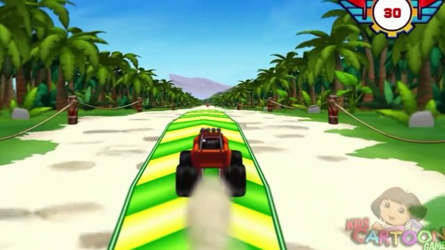 Blaze And The Monster Machines - Blaze Dragon Island Race( Kids Game Episode - Nick Jr. Games)