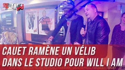 Cauet ramène un vélib dans le studio pour Will i am - C'Cauet sur NRJ