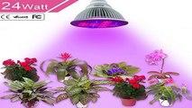 24W LED Grow Light UNIFUN E27 Plant Bulbs Plant Growing Bulb for Garden Gre