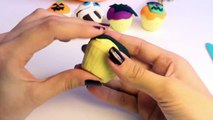 Halloween Play Doh Cupcakes DIY Ghost Pumpkin Witch Mummy How To Make Halloween Crafts Part 8