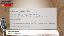 Only You - Yazoo Vocal Backing Track with chords and lyrics
