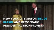 Mayor Bill de Blasio jokes about 'colored people' time with Hillary Clinton