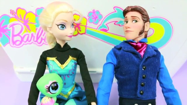 Hans FREEZES Elsa Disney Frozen Elsa Cruise Barbie Parody Part 5 AllToyCollector