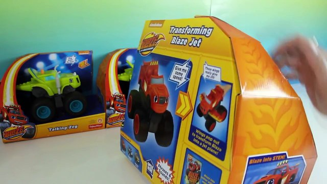 NEW Blaze and the Monster Machines Toy Review Transforming Blaze Jet