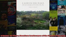 Read  A Genius for Place American Landscapes of the Country Place Era  Full EBook