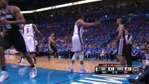 Kawhi Leonard Dunks On Serge Ibaka Spurs vs Thunder May 25, 2014 Game 3 NBA Playoffs 2014