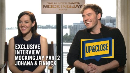JANE MALONE & SAN CLAFLIN from  HUNGER GAMES JOHANA and FINNICK from Mockingjay Part 2 in UP&CLOSE