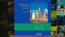 EBOOK ONLINE  Auditing and Assurance Services 12th Edition  DOWNLOAD ONLINE