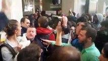 La manifestation sauvage de Nuit Debout à la gare Saint-Lazare