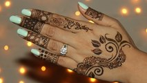 Newly Easy & Simple Henna Design 2016 - How To Draw Henna - Mendhi For Full Hand - Learn Henna Art - Easy and Cute Henna Design  -