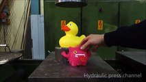 Canard en plastique vs. Presse Hydraulique
