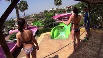 Scary Slalom Water Slide at Aqualand