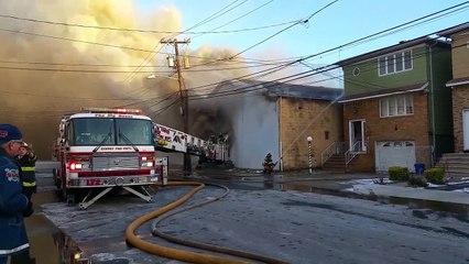 HARRISON, NJ WAREHOUSE FIRE ( Bergen St ) 1/11/15 P 1