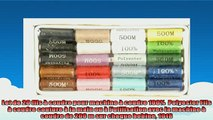 sélection de produits Lot de 20 fils à coudre pour machine à coudre 100  Polyester Fils à coudre couture à la