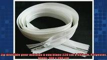 sélection de produits Zip divisible pour matelas à eau blanc 220 cm à 380 cm Polyester blanc 100 x 200 cm