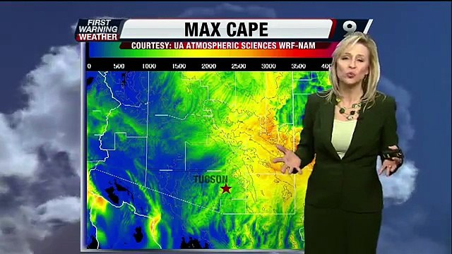 Chief Meteorologist Erin Christiansen's KGUN 9 Forecast at 5:00PM Thursday, July 11, 2013