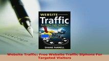 PDF  Website Traffic Free Website Traffic Siphons For Targeted Visitors Download Online