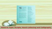 Download  Hand to Type Scripts HandLettering and Calligraphy PDF Full Ebook