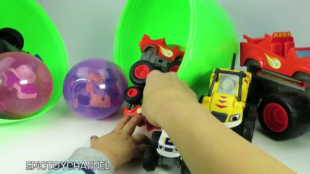 GIANT SURPRISE EGG Blaze and the Monster Machines with Blaze Surprise Toys & Monster Trucks