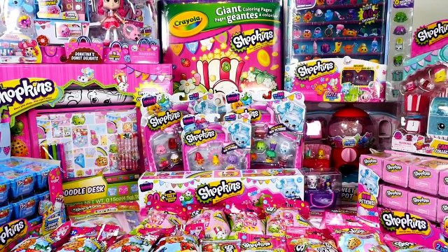 ~☀*★~ SHOPKINS SHOPPING SPREE ~☀*★~ MEGA Shopkins Haul | Biggest Shopkins Toys Shopping Haul Video
