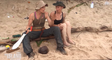 The Island : Virginie menace Isabelle et Muriel avec une machette (vidéo)
