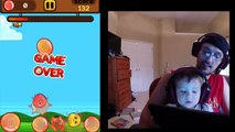 2 Year Old Chase plays Flappy Bird, My Boo, Minecraft, Angry