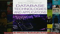 READ book  Encyclopedia Of Database Technologies And Applications  FREE BOOOK ONLINE
