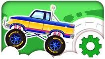 Мультики про машинки. Монстр Трак и АвтоМойка. Гоночные Машины и гонки в городе. Для мальчиков
