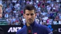 Novak Djokovic NO MORE DROP SHOTS INTERVIEW SPORT