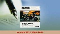 PDF  Yamaha FZ1 20012004 Read Full Ebook