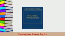 PDF  Purchasing Power Parity Download Online