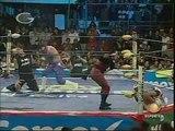 AAA-SinLimite 2009-04-21 Cuautitlan Izcalli 06 AAA Heavyweight Title No1 Contender Match - Dr. Wagner Jr. vs. Electroshock vs. El Zorro vs. Vampiro