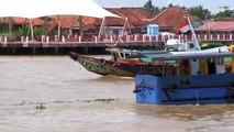 Speedboats on Palembang's River Musi