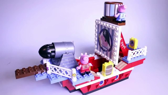 Peppa Pig Pirate Ship Blocks Peppa Pig Building Toys Peppa and George Barco Pirata Megabloks Part 1