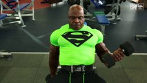 TONEY FREEMAN - BICEPS AND TRICEPS WORKOUT - Bodybuilding Muscle Fitness