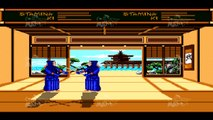 URYUPINSK. RUSSIA - APRIL 7, 2016: Gameplay game console Sega Genesis Budokan - kendo Japanese