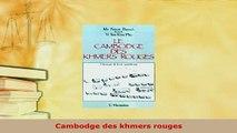 PDF  Cambodge des khmers rouges Read Online