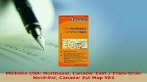 PDF  Michelin USA Northeast Canada East  EtatsUnis NordEst Canada Est Map 583 Download Online